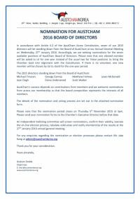 [2016 BoD Election] Call for Nominations